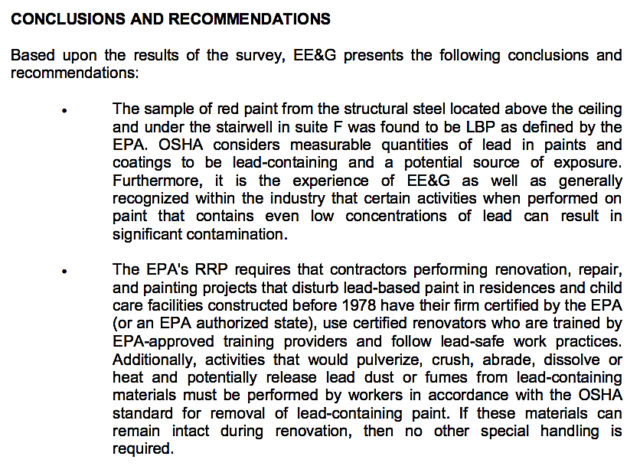 A section of the EE&G letter to county staff explains part of the firm's recommendations. Image courtesy Sarasota County