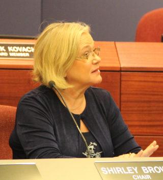 School Board Chair Shirley Brown. Rachel Hackney photo