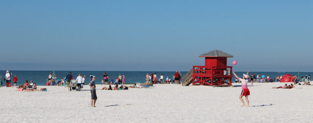 Siesta Public Beach is expected to be crowded over the holiday weekend. File photo
