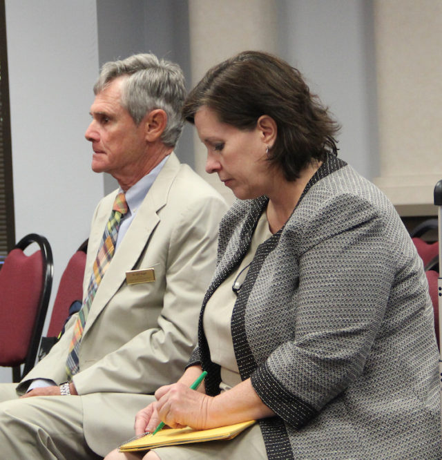 Consultant Bill Vogel and Andrea Messina, executive director of the Florida School Boards Association, have been working with the district on the search for a new superintendent. Rachel Hackney photo