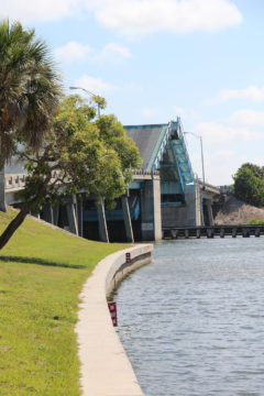 The Stickney Point Road drawbridge opens for boat traffic on a spring day. File photo