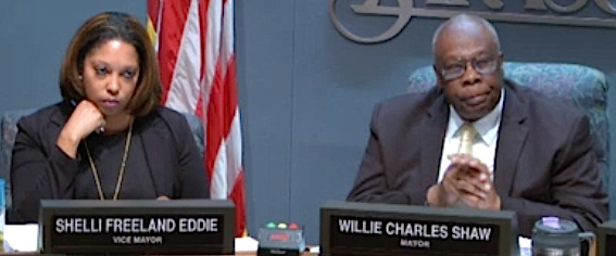 Vice Mayor Shelli Freeland Eddie and Mayor Willie Shaw. File photo