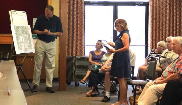Todd Mathes answers questions posed by Janet Emanuel. Rachel Hackney photo