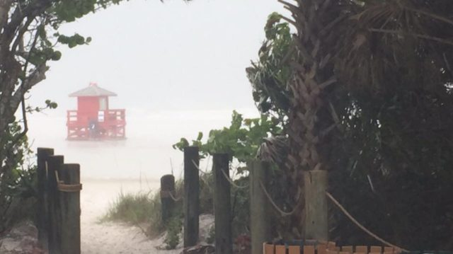 A Sheriff's Office deputy photographed Siesta Public Beach on June 6. Image courtesy Sheriff's Office