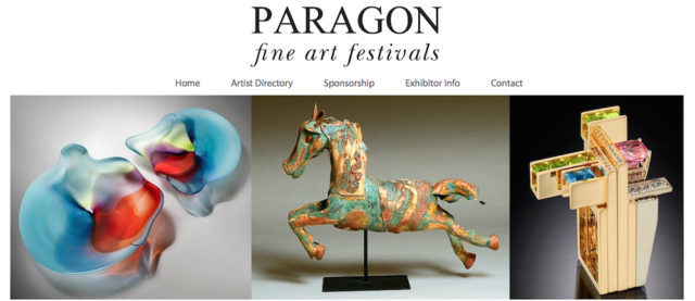 The Paragon Fine Art Festival website offers examples of works from show participants. Image from the website
