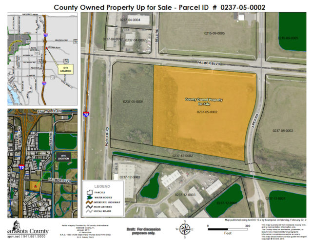 TST will proceed with steps toward closing on this southwest 'Quad' parcel. Image courtesy Sarasota County