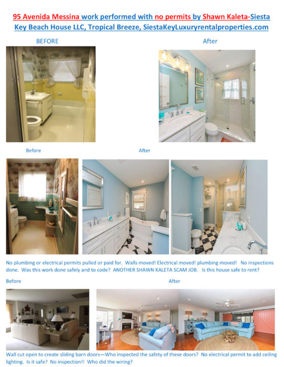 'Concerned Citizen' emailed these before and after photos to Croteau in June, showing scenes from the interior of the house. The images were provided to the News Leader.