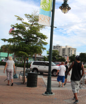 Siesta Village has had uniform garbage cans since it was beautified in 2008-09. File photo
