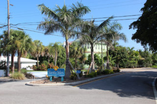 New signage for Siesta Isles on Siesta Key was made possible by the program. File photo