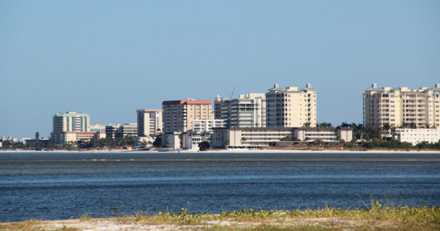 Condominium towers stand on South Lido, across Big Sarasota Pass from Siesta Key. File photo