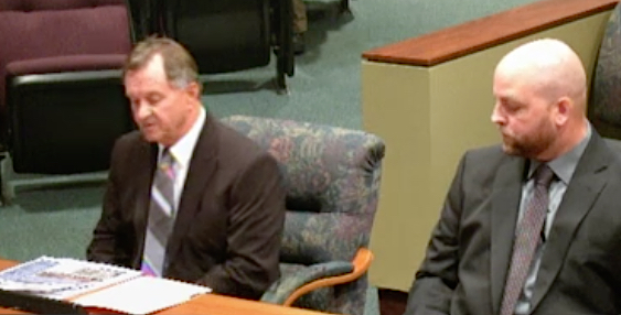 (From left) Rob Schanley and Nick Dazio participate in the discussion. News Leader photo