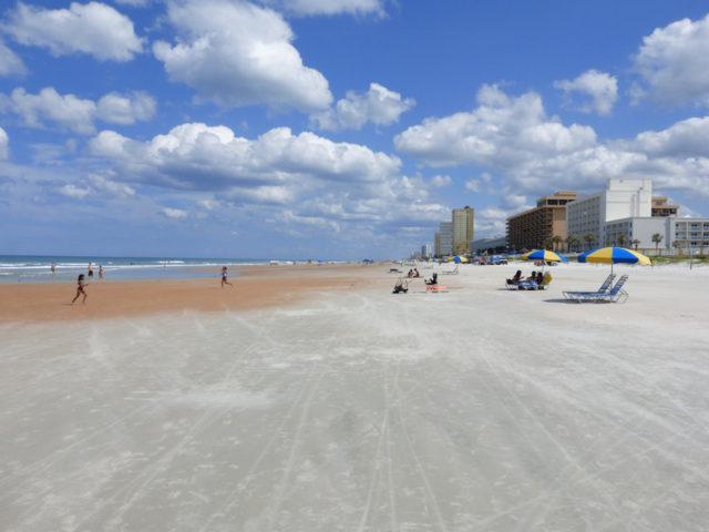 Clouds 'bloom' over Daytona Beach. Photo by Fran Palmeri