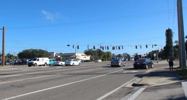 Residents who live near the Stickney Point Road/U.S. 41 intersection are worried about extensive traffic queuing during the height of tourist season, if Siesta Promenade is built as proposed. Rachel Hackney photo