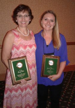 Sandy Waite (left) and Justine Jackson. Photo courtesy Sarasota County Schools