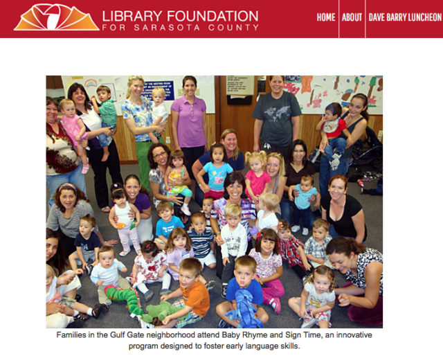 Photo from the Library Foundation website