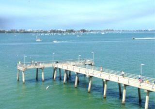 The Tony Saprito Pier is located at Hart's Landing. Photo courtesy Sarasota County