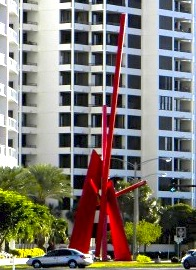Complexus in downtown Sarasota is one example of the city's public art collection. File photo
