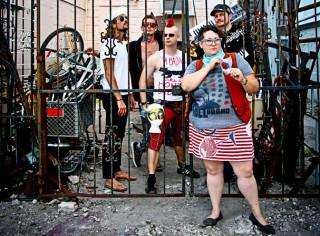 Harvey Milk Festival President Shannon Fortner, with her band, MeteorEYES