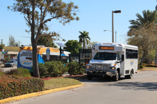 A paratransit bus stops at the Southgate Mall bus shelter. File photo