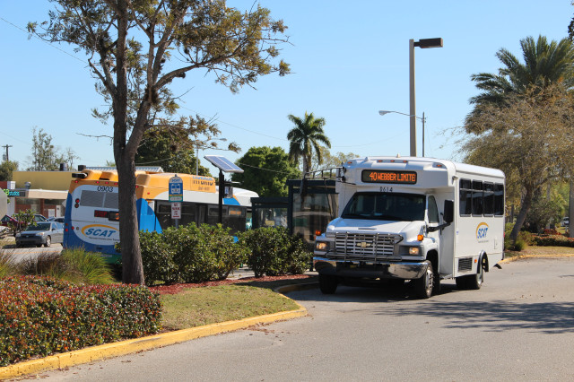 Two SCAT buses stopped at Southgate March 2013