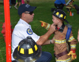 Sarasota County welcomes youngsters to its annual Fire Prevention Week Open House. Image courtesy Sarasota County