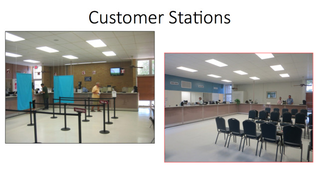 Improvements also have been made to the customer service stations i the Pompano Avenue facility. Photo courtesy Tax Collector's Office.