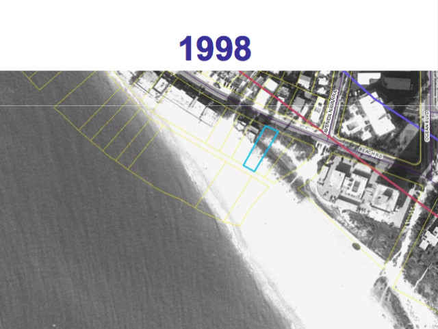 The lot in 1998. Image courtesy Sarasota County