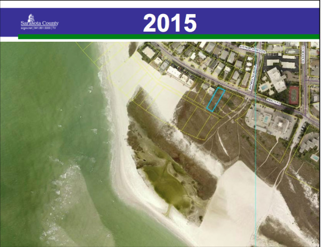 The Allens' lot is shown in January 2015. Image courtesy Sarasota County