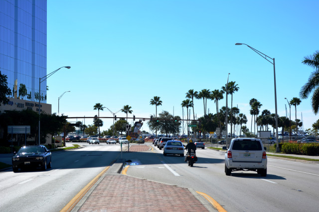 Looking south on U.S. 41, the Gulfstream Avenue intersection is ahead on the right. News Leader archive photo