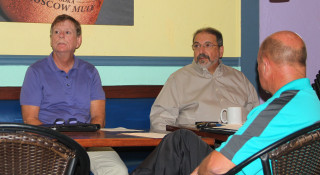 Mark Smith (left) and County Commissioner Al Maio. File photo