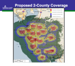 Proposed 2-county 800 MHz coverage for BCC Oct. 5 2015
