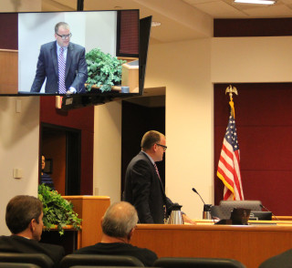 Todd Mathes makes his presentation to the board in October 2015. File photo