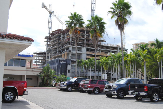The Vue Sarasota Bay and Westin hotel project is under way at the intersection of Gulfstream Avenue and U.S. 41. Roger Drouin photo