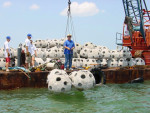 reef ball drop_Sarasota Bay SBEP Oct. 2015
