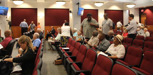 Community residents gather in the County Commission Chambers on Nov. 6. Rachel Hackney photo