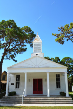 The Crocker Memorial Church is located in Sarasota's Pioneer Park. File photo