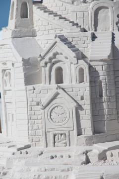 The Mutch-McDonald castle featured a tiny clock. Rachel Hackney photo