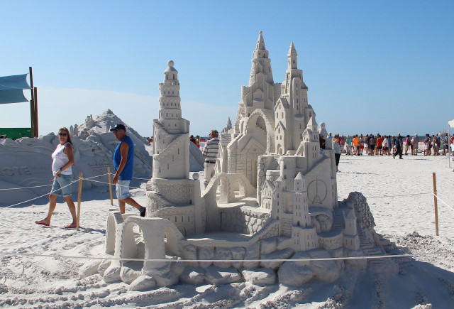 Craig Mutch and Walter McDonald created this castle during the 2015 Crystal Classic. File photo
