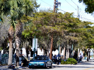 Homeless people gather in the Rosemary District in 2013. File photo
