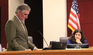 Jon Thaxton addresses the boards on Nov. 6. Rachel Hackney photo