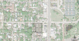 A graphic shows the site of the proposed development. Image courtesy City of Sarasota