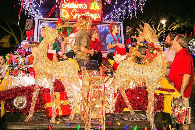 The Light Up the Village has drawn bigger and bigger crowds over the past several years. Photo courtesy of Peter van Roekens