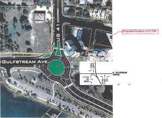 The new sculpture will be placed in the center of the planned roundabout at U.S. 41 and Gulfstream Avenue. Image courtesy City of Sarasota