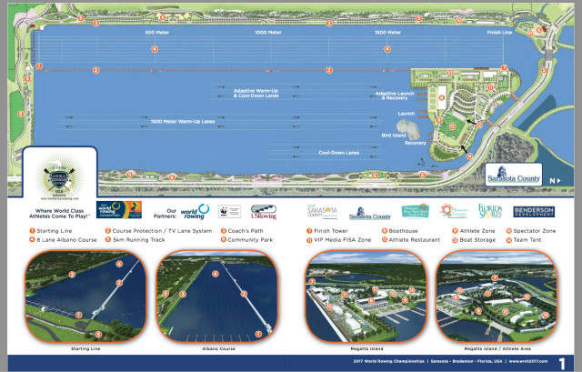 The Benderson Park website shows locations of the planned facilities. Image from the website