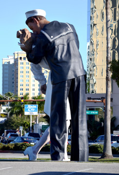 Unconditional Surrender stands on the city's bayfront, News Leader archive