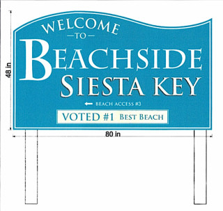 This new sign will be going up for Beachside. Image courtesy Sarasota County