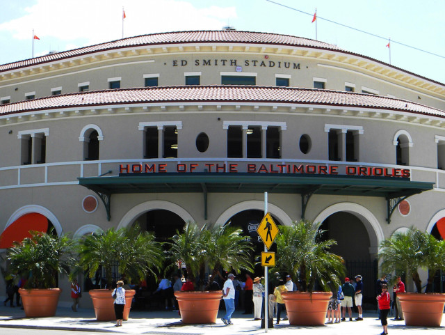 Ed Smith Stadium is the Baltimore Orioles' Spring Training home in Sarasota. File photo