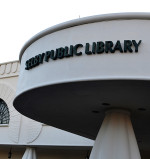 Selby Library with building name Lightened