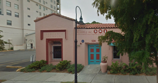 The Woman's Exchange is located on South Orange Avenue in downtown Sarasota. Image from Google Maps