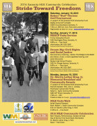 2016 MLK Stride Toward Freedom events flier Jan. 17 2016